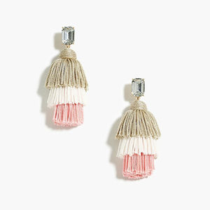 ❤️NWT JCrew Pink Layered Thread Tassel Earrings❤️